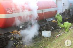 Bild Gefahrgutzug havarierter Zug
